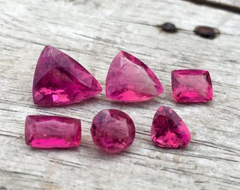7.35 Carates Beautiful Faceted Pink Color Rubellite With Beautiful Color and Luster From Afghanistan.