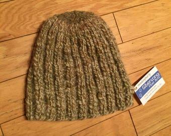 Handmade Knit Chunky Homespun Wool Hat