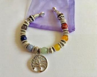 Bracelet 7 Chakras en pierre naturelle semi-précieuse