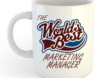The Worlds Best Marketing Manager Mug
