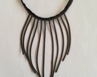 Unique Zipper Necklace - Zipper Jewelry- Valentines Gift