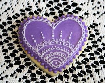 Royal Iced Valentine Sugar Cookie