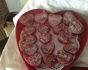 Red Valentine Conversation Heart Soap