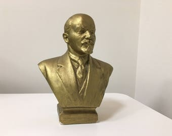 Made in USSR Soviet Russian USSR Leader Vladimir Lenin Gypsum Bust