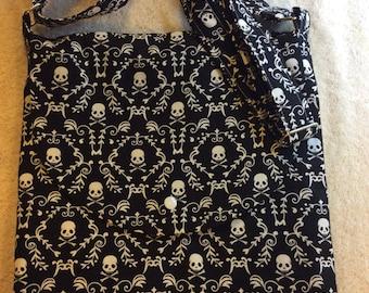 Mini Skull and Crossbones Adjustable Shoulder Bag
