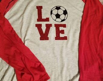 Love Soccer Raglan