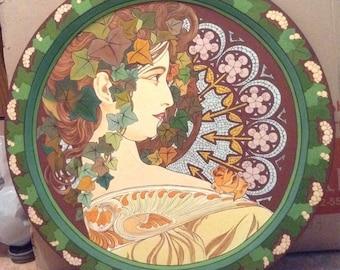 """Panel copy of the artist's work Alfonca flies """"Ivy"""""""
