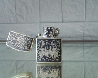 Vintage lighter sterling silver Siam