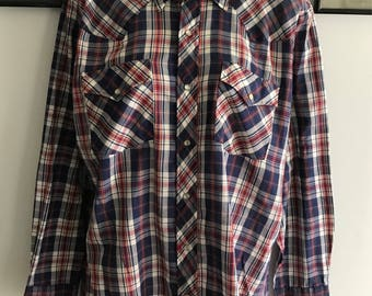 Mens Vintage Youngbloods Authentic Western Shirt M