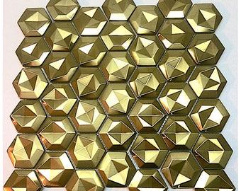 Mosaic dandelion Gold stainless steel