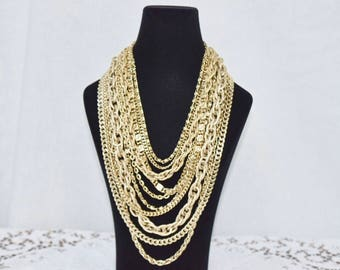 Vintage Multilayered chain necklace