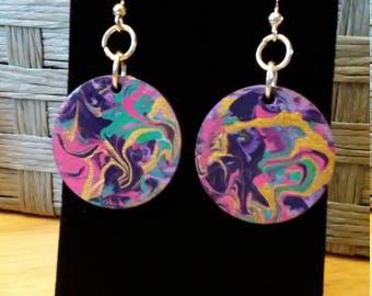Abstract Swirl Earrings