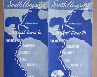 y 1935  USA shipping company GRACE LINE  America  schedule