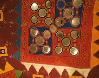 Indian tribal mirrorwork cloth