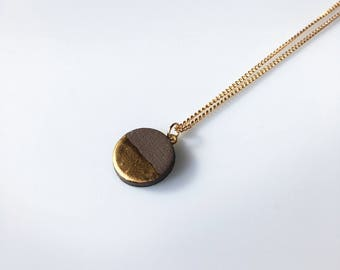 Gold and Earth Pendant