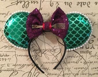 Ariel Inspire Minnie Ears - Little Mermaid