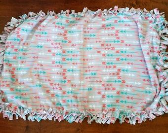 Fleece Tie Arrow Blanket