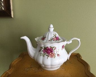 Polish Porcelain Teapot Crystal Clear brand Made in Poland