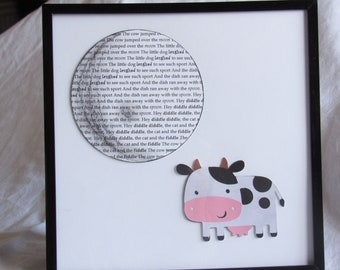 Hey Diddle Diddle - 8 x 8 Nursery Wall Art