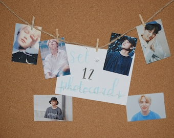 Set of 12 photocards Bts and others (7.5 x 5)