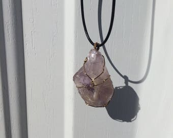 Raw gemstone necklaces