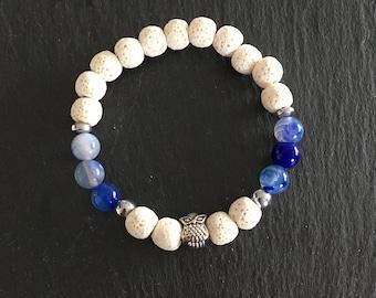 Diffuser bracelets made of 8 mm lava