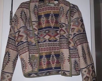 Aztec/Tribal Print Cotton Jacket