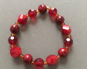 Red Jasper Stretchy Bracelet