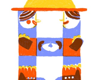 H is for Hello! A3 Fine-art Print
