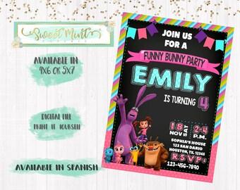 Kate and Mim Mim Birthday Invitation / Digital File / Printable