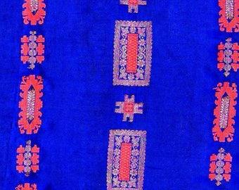 Royal blue vintage saree