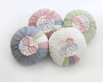 Flower Circle Patchwork Cushion