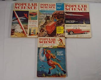 Vintage 1950s Popular Science Advertising Magazine Lot