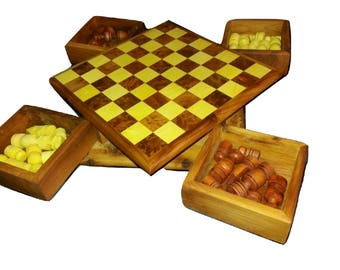 Chess game - thuya wood - Can be closed