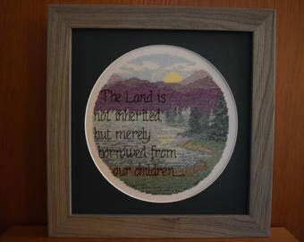 Completed Cross Stitch:  The Land