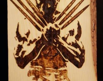 Wolverine wood burn