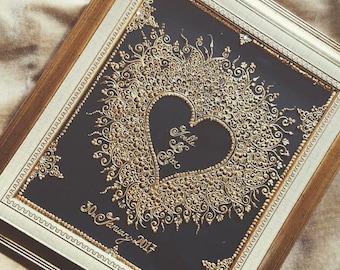 Personalised henna mehndi frame