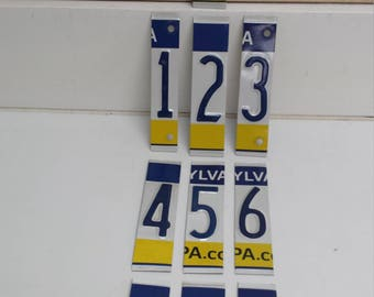 10 Pennsylvania License Plate Numbers 0-9