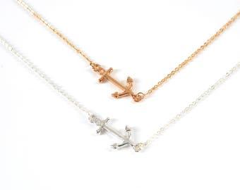 Anchor bracelet-Gold, silver