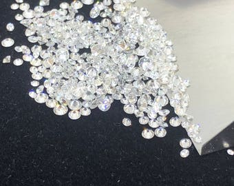 2.10MM to 2.50MM 100% Natural Round Diamonds Loose Gemstone G-H Color SI Clarity