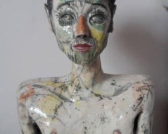 Sculpture RAKU from opening of Egon Schiele