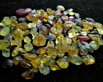99 CT Unheated & Natural Multi Color Chrysoberyl Rough Stone Lot