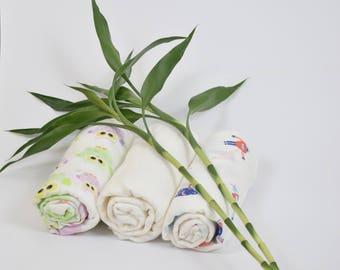 Bamboo Swaddle Set of  three