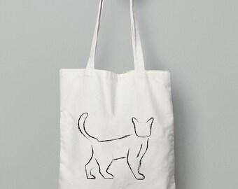Cat Fabric Bag