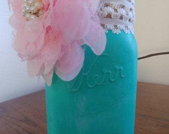Decorated Kerr canning jar.