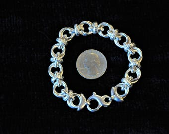 Vintage Sterling Double Link Bracelet