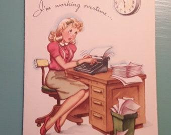 Vintage 1940's Birthday Card, Never Used Birthday Card, Vintage Birthday Card