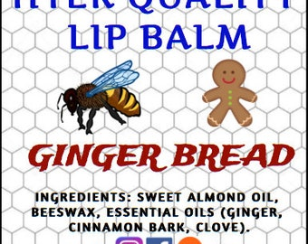Gingerbread Beeswax Lip Balm