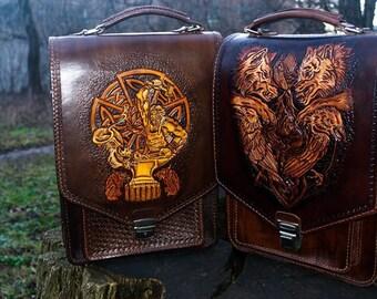 Men's bags 'Svarog' and 'Wolves'