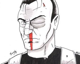 The Punisher - A4 original artwork